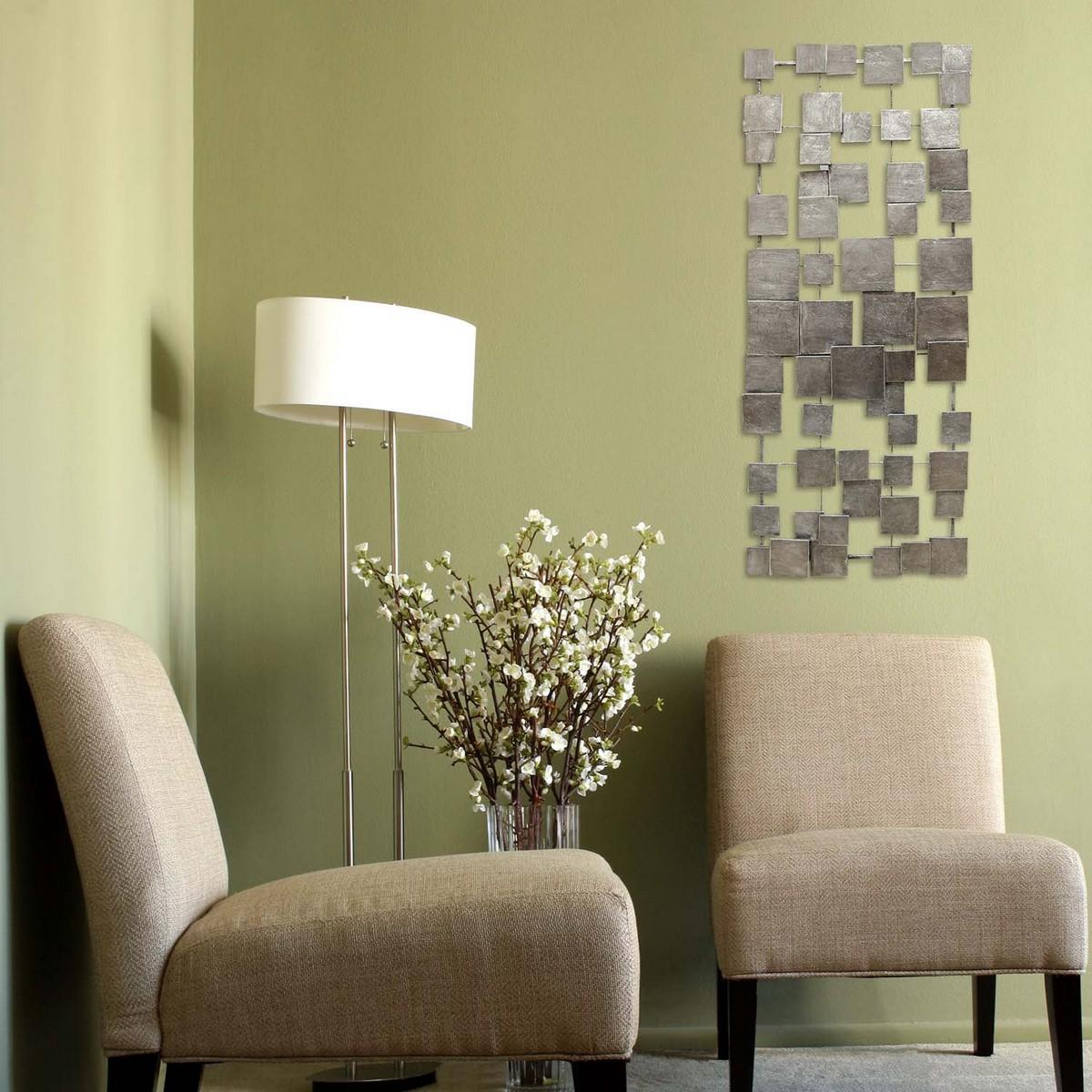 Stratton Home Decor Geometric Tiles Wall Decor - Champagne