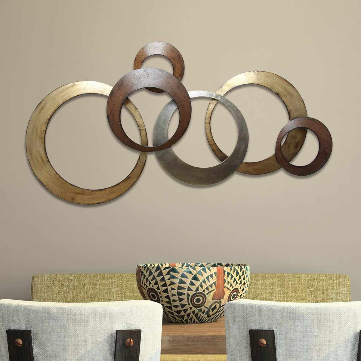 Wall Decoration Rings : Stratton home decor metallic rings wall multi
