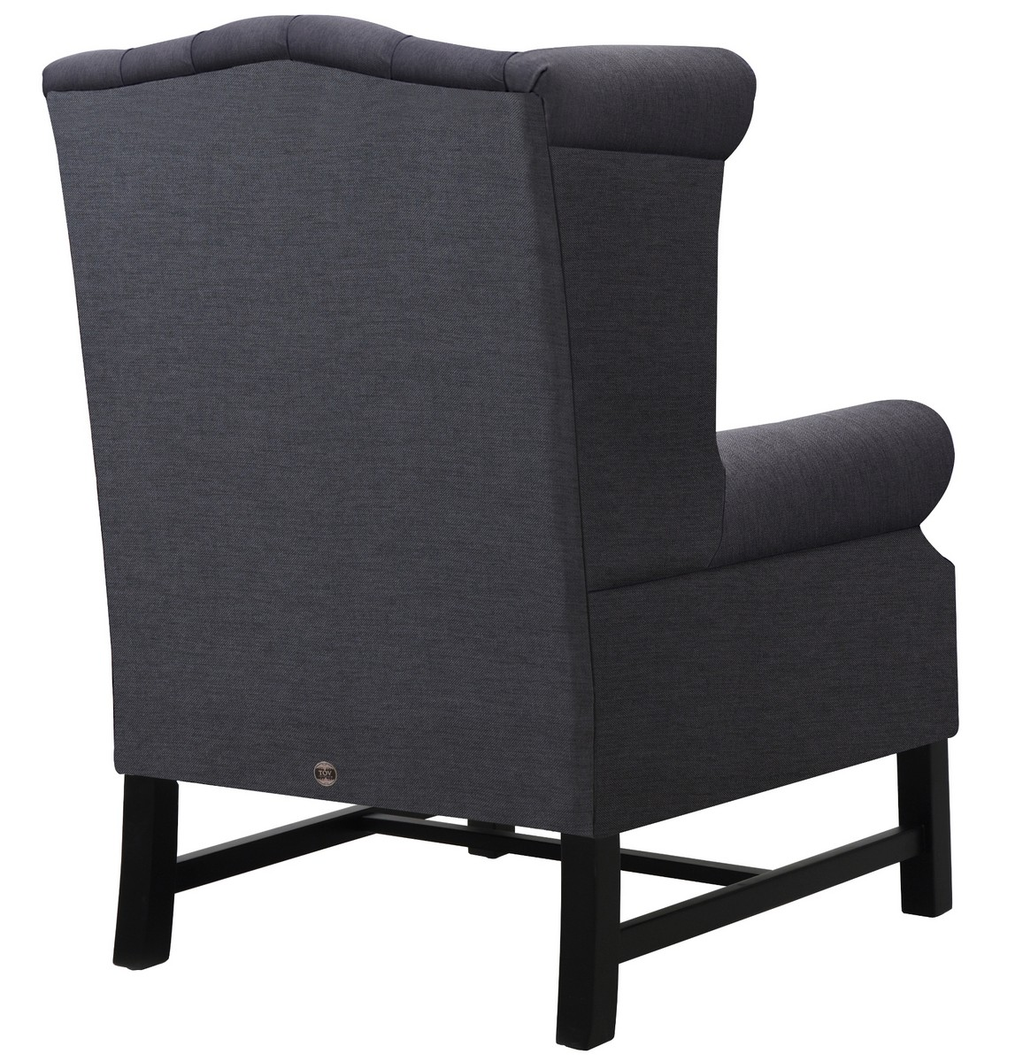 TOV Furniture Fairfield Grey Linen Club Chair