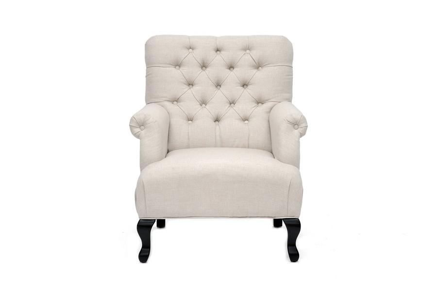 TOV Furniture York Beige Linen Club Chair