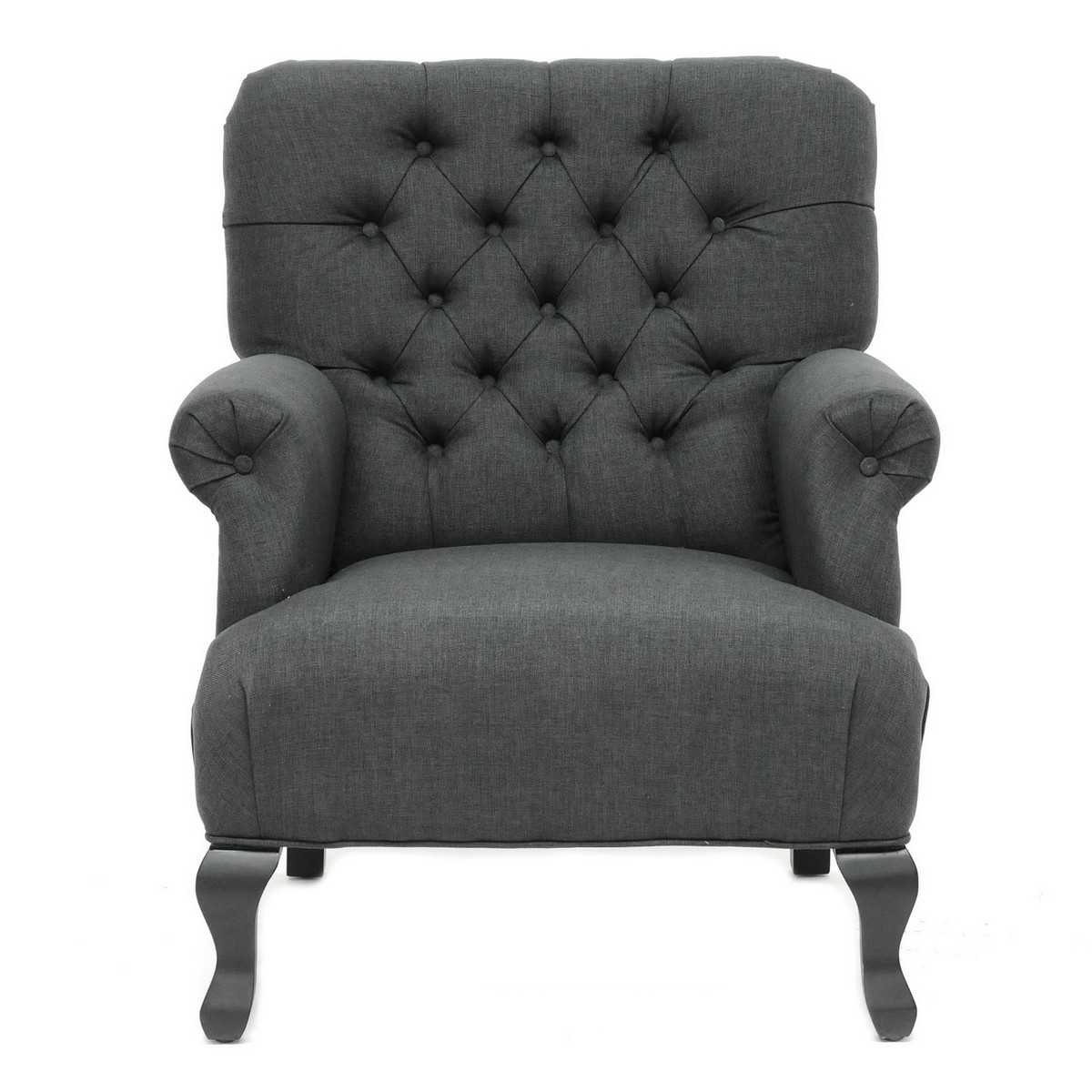 TOV Furniture York Grey Linen Club Chair