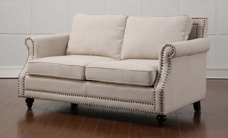 TOV Furniture Camden Beige Linen Loveseat