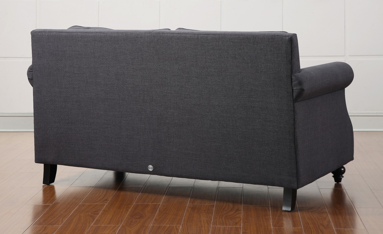 TOV Furniture Camden Grey Linen Loveseat