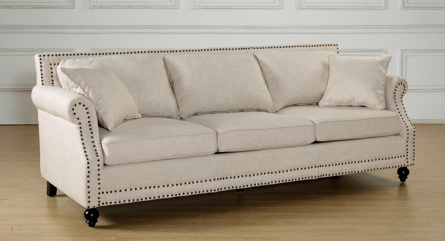 TOV Furniture Camden Beige Linen Sofa