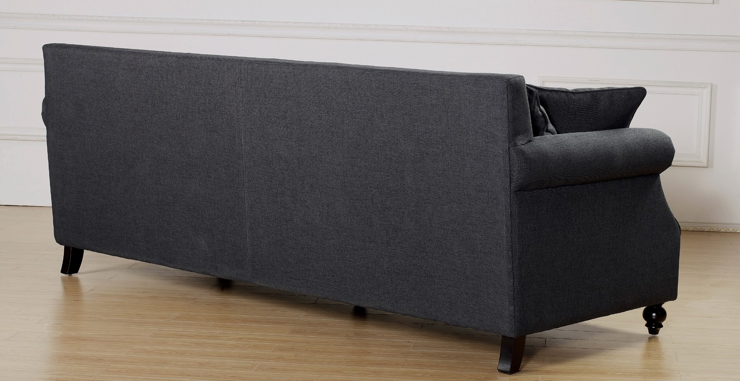 TOV Furniture Camden Grey Linen Sofa