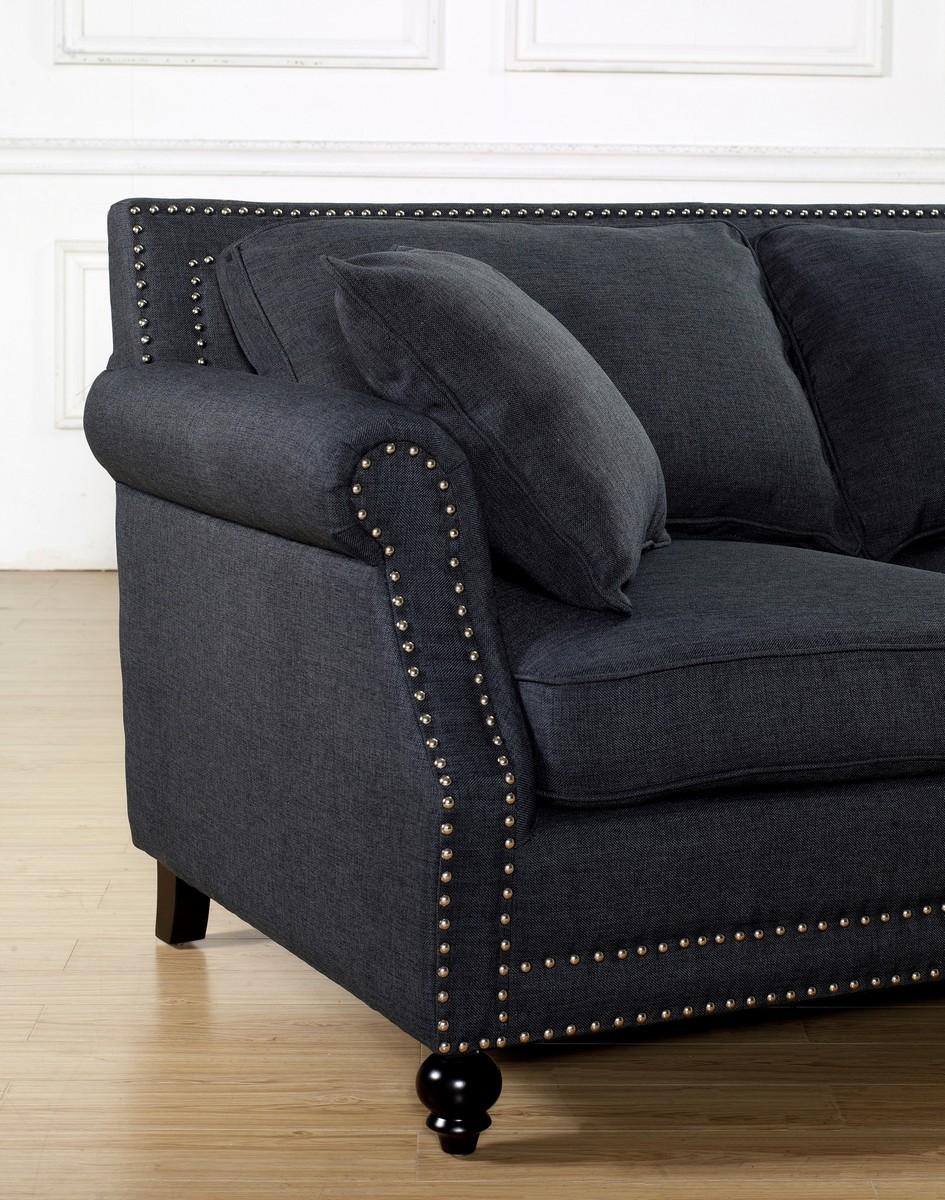 Tov Furniture Camden Grey Linen Sofa