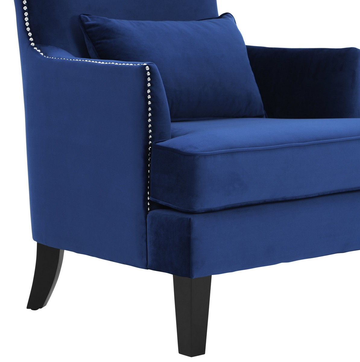 TOV Furniture Bristol Navy Tall Chair