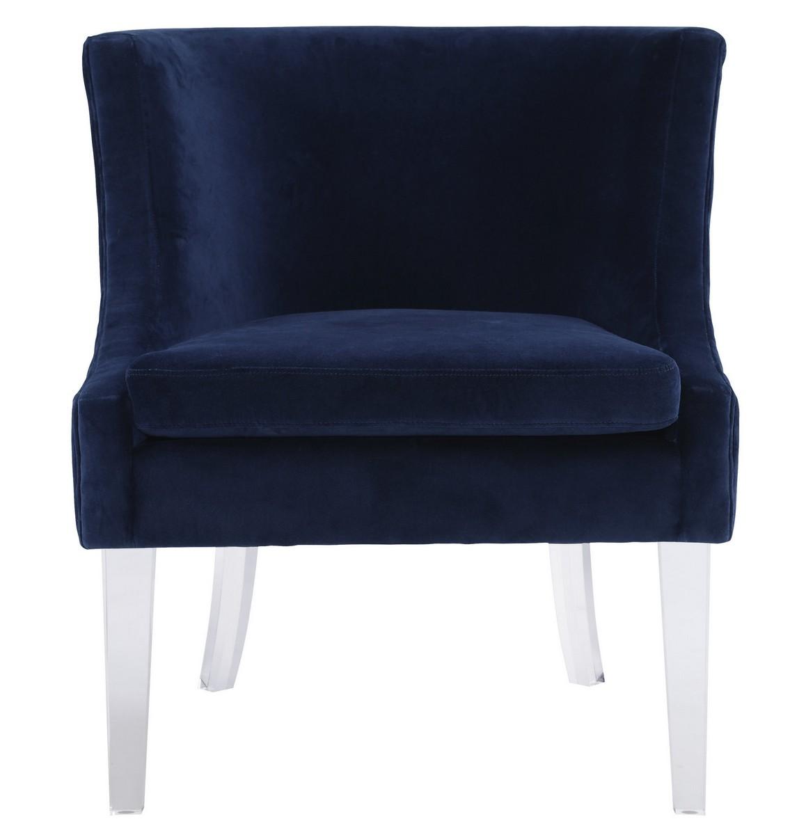 TOV Furniture Myra Blue Velvet Chair