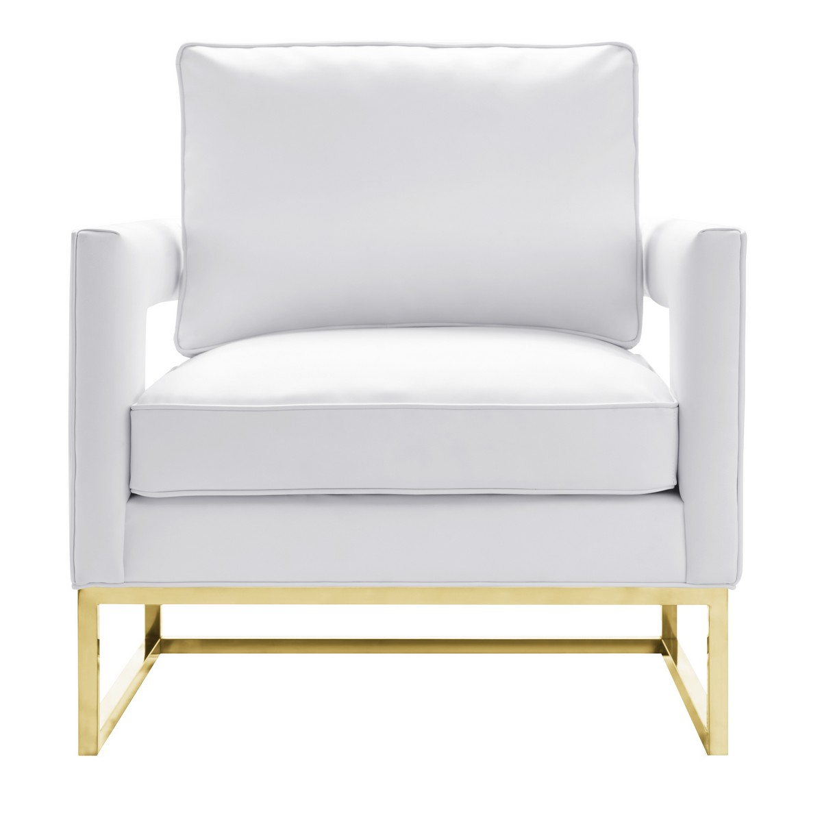 TOV Furniture Avery White Leather Chair