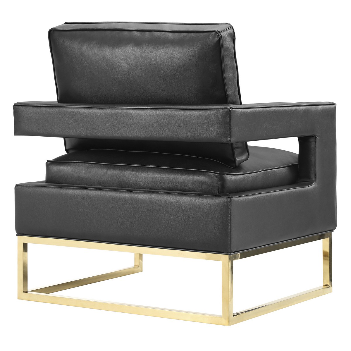 TOV Furniture Avery Black Leather Chair