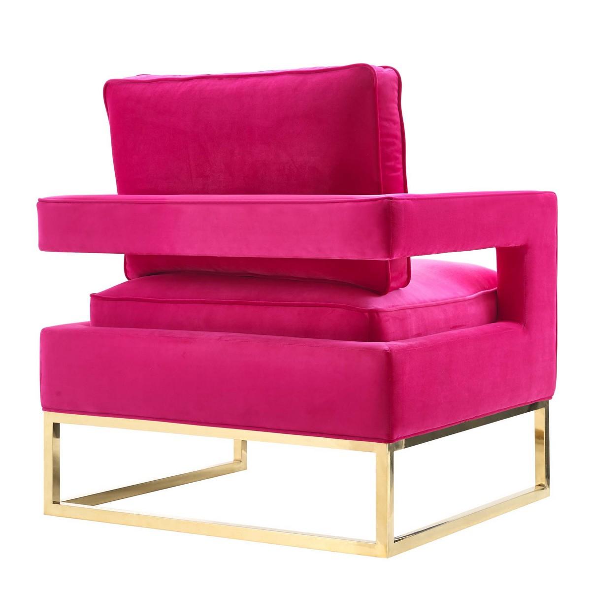 TOV Furniture Avery Pink Velvet Chair