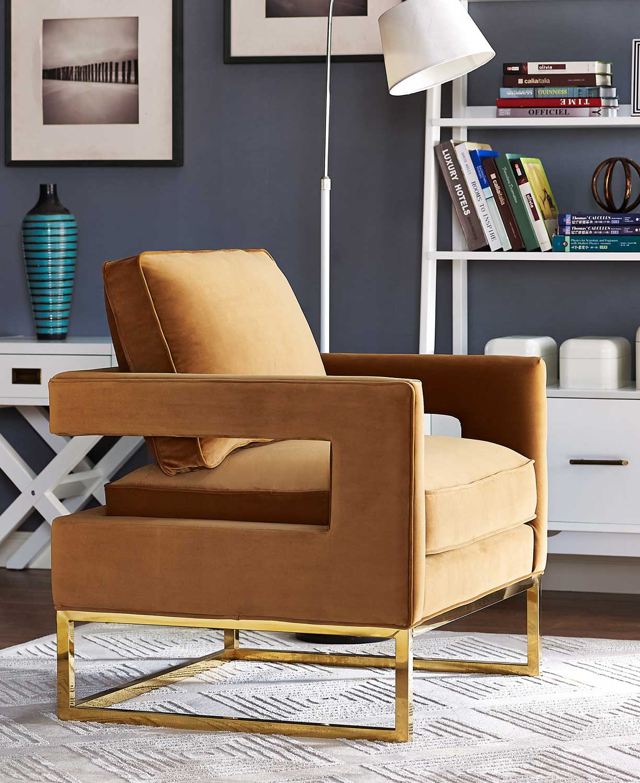 TOV Furniture Avery Chair   Cognac