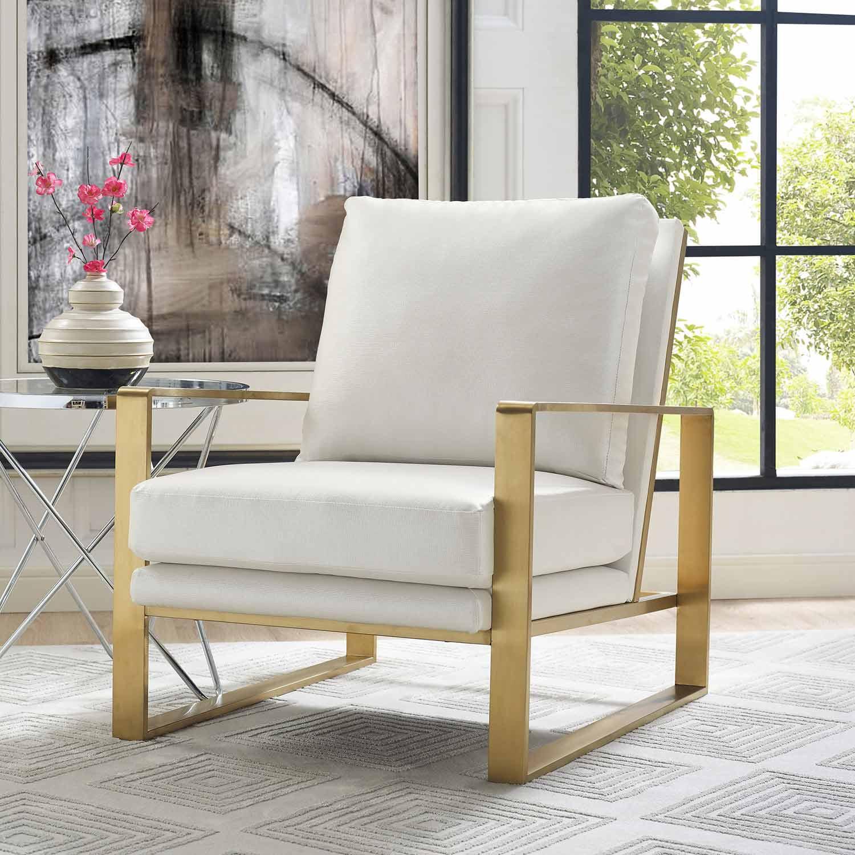 TOV Furniture Mott Textured Chair - Pearl