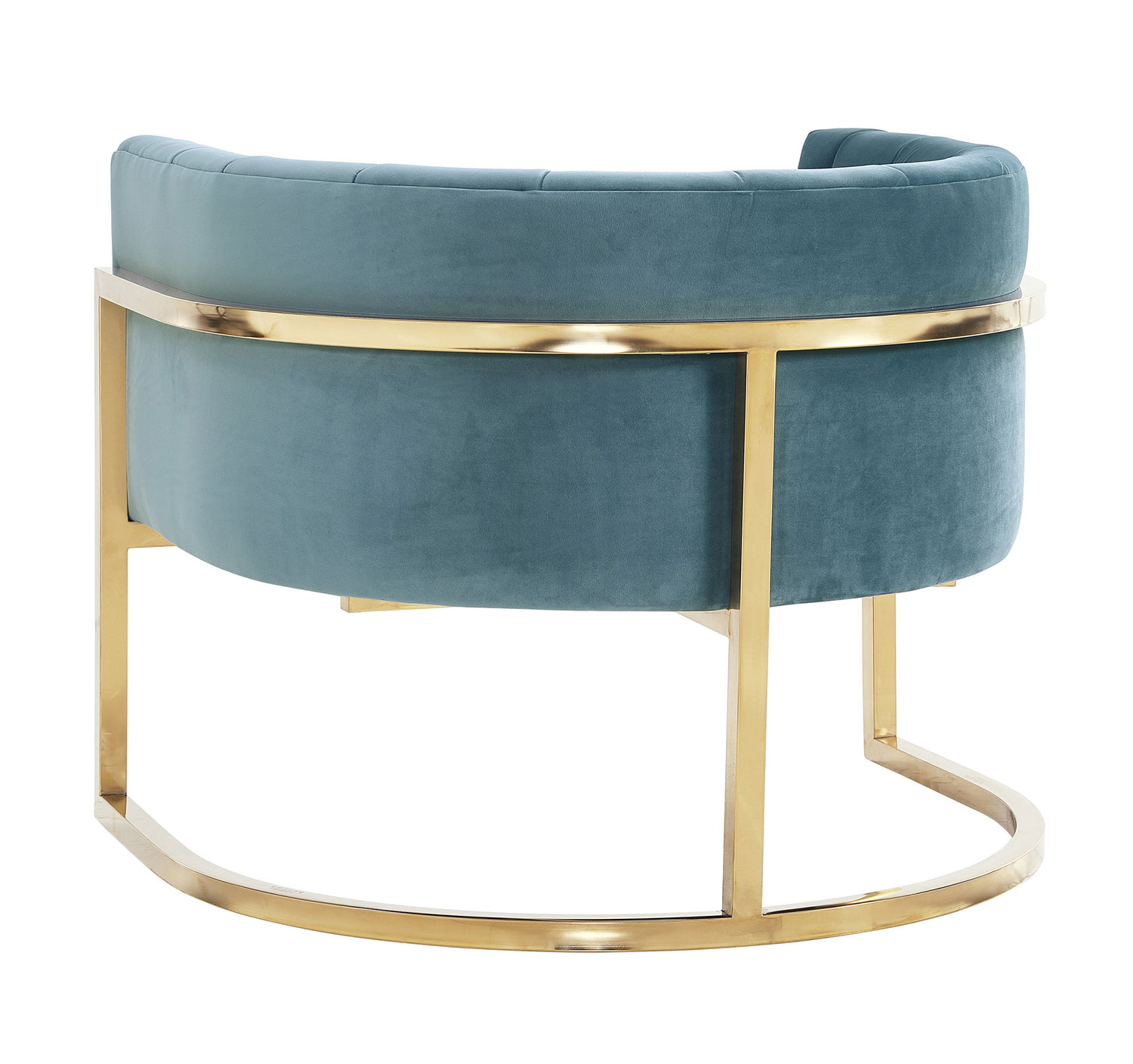 TOV Furniture Magnolia Chair with Gold Base - Sea Blue
