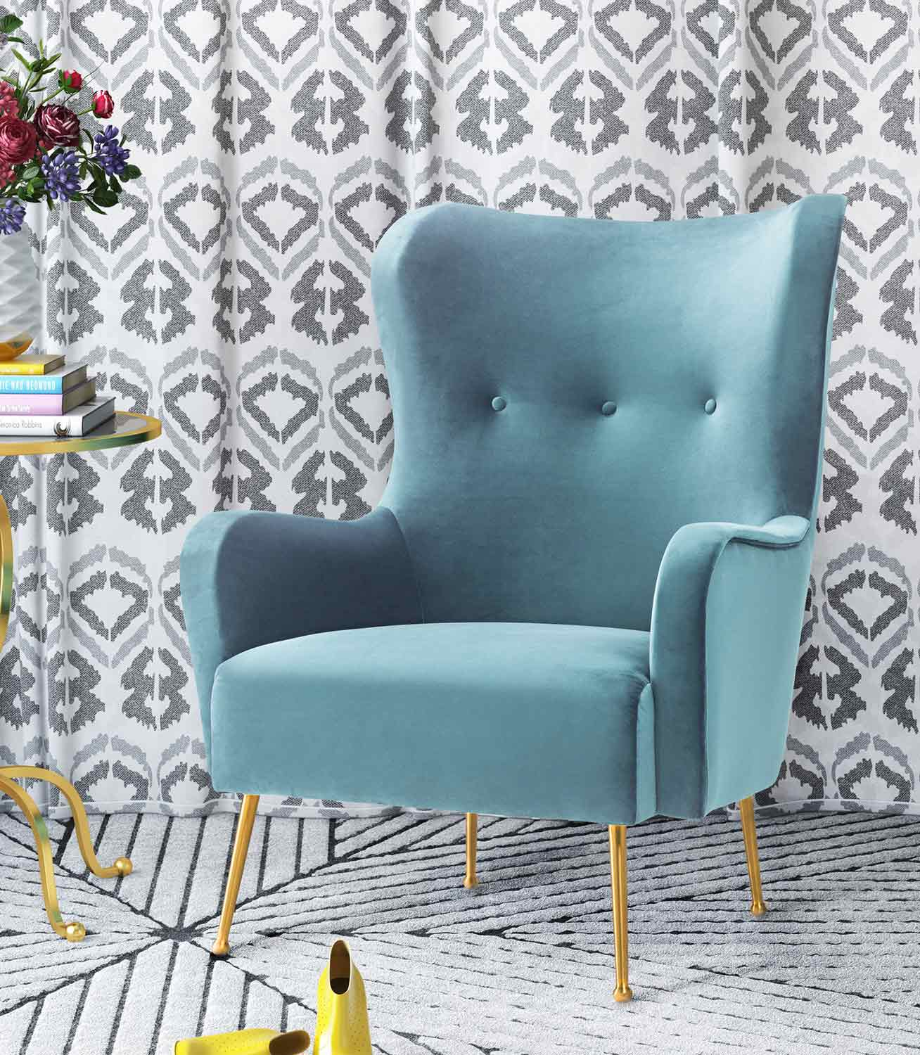 TOV Furniture Ethan Chair - Blue