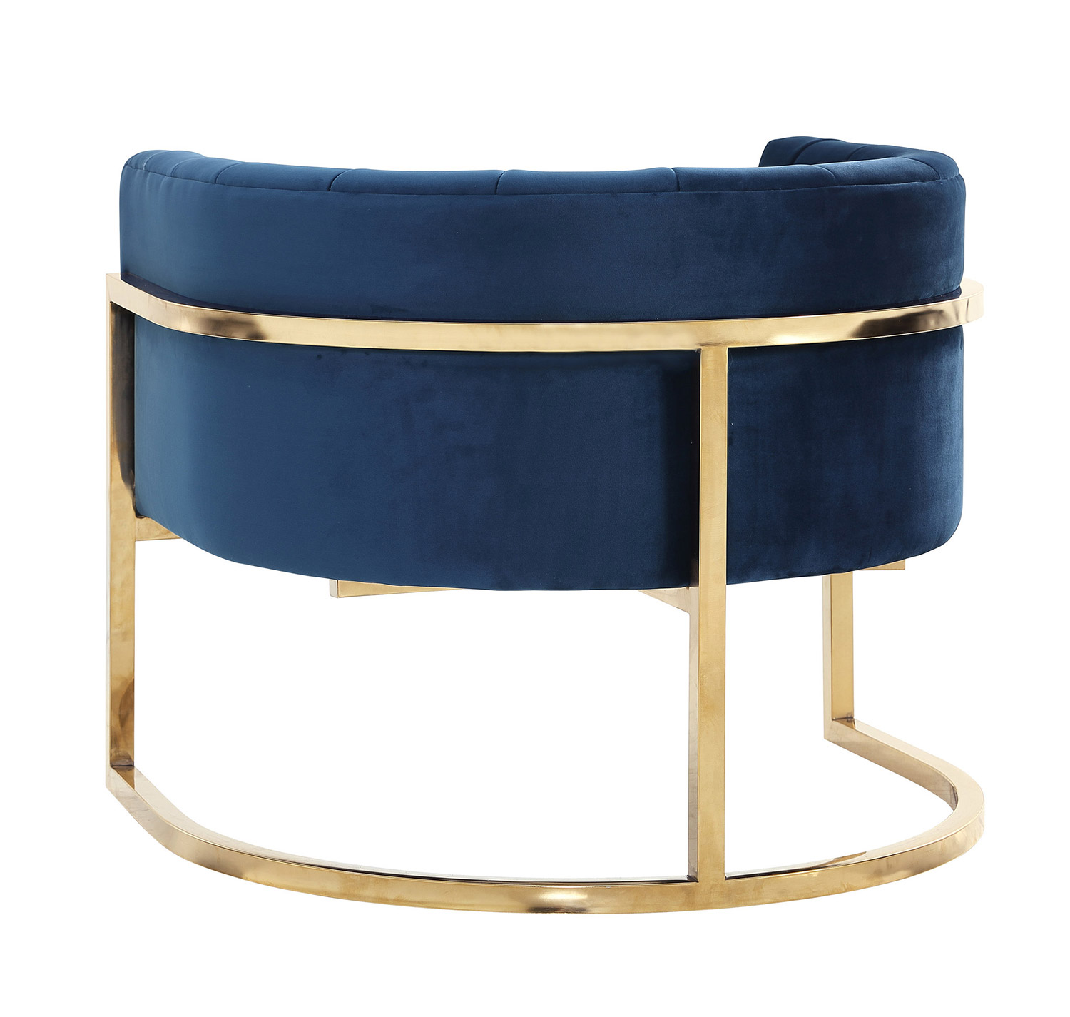 TOV Furniture Magnolia Chair with Gold Base - Navy