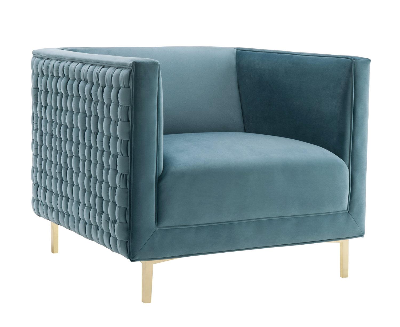 TOV Furniture Sal Woven Chair - Blue