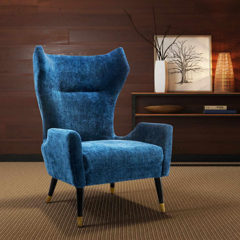 TOV Furniture Logan Chair   Navy