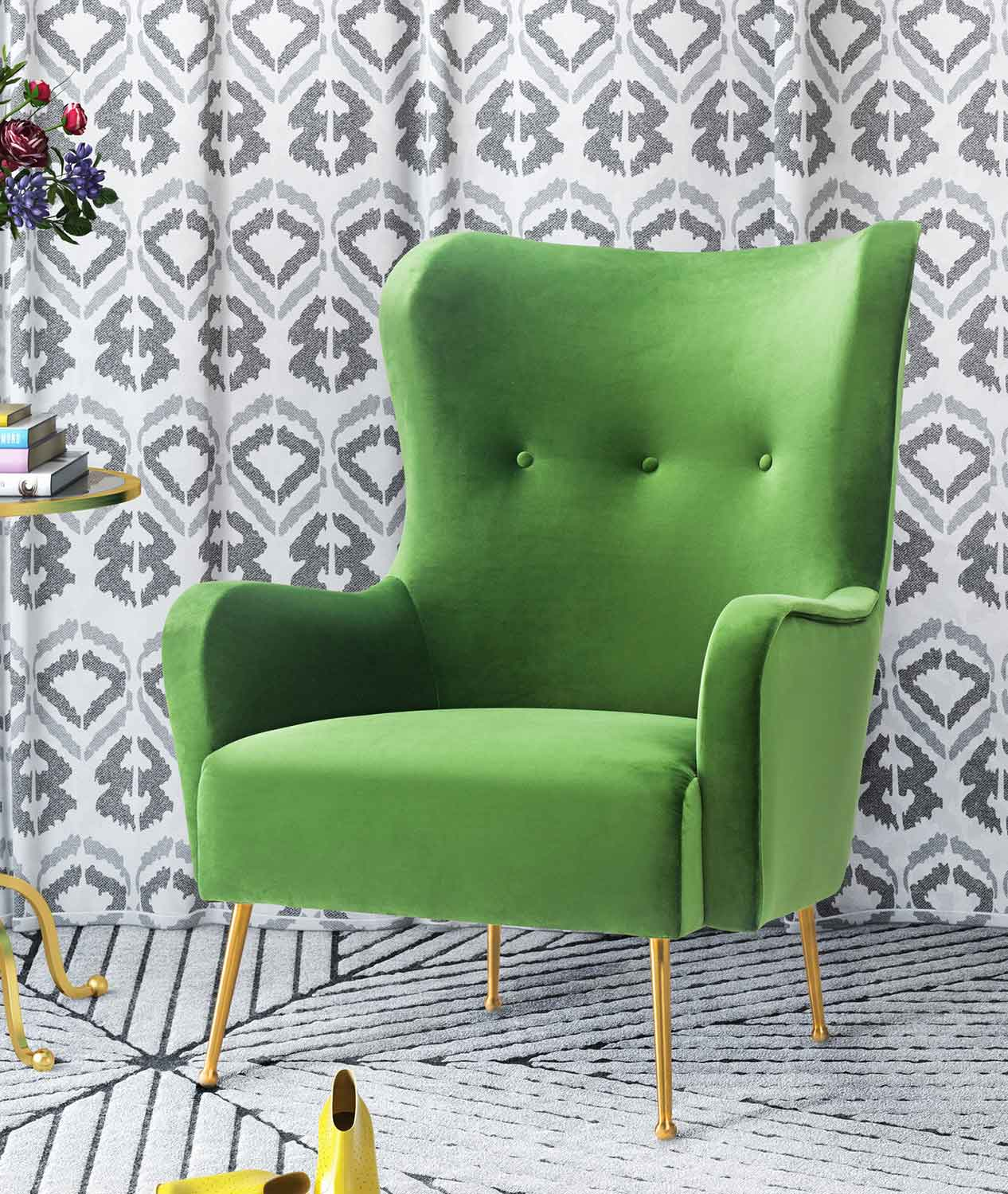 TOV Furniture Ethan Chair - Green