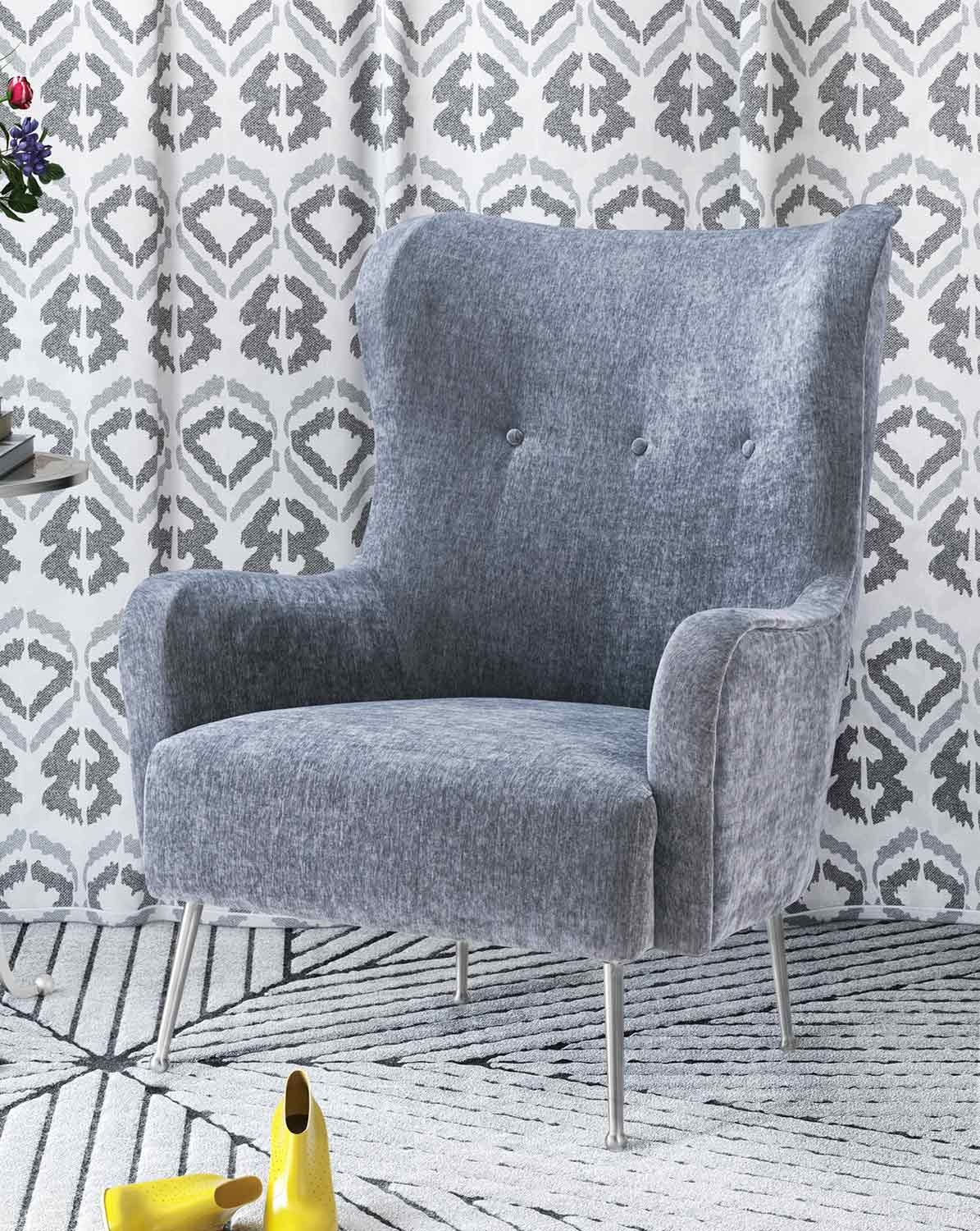 TOV Furniture Ethan Chair - Grey