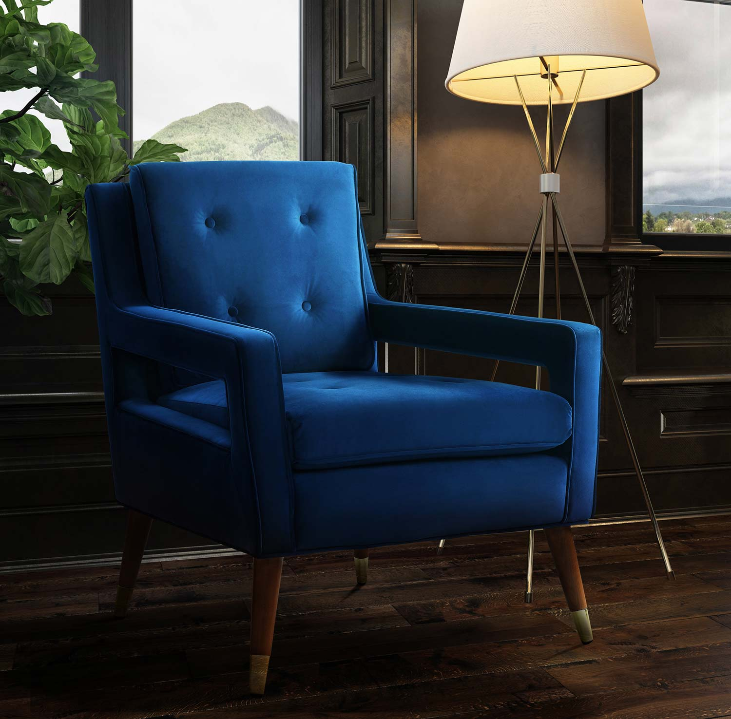 TOV Furniture Draper Chair - Navy