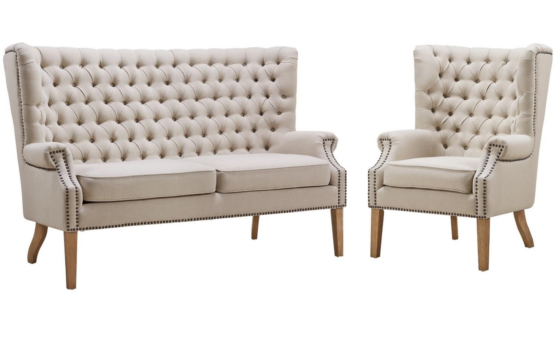 Tov Furniture Abe Beige Linen Living Room Set A2041 S2064