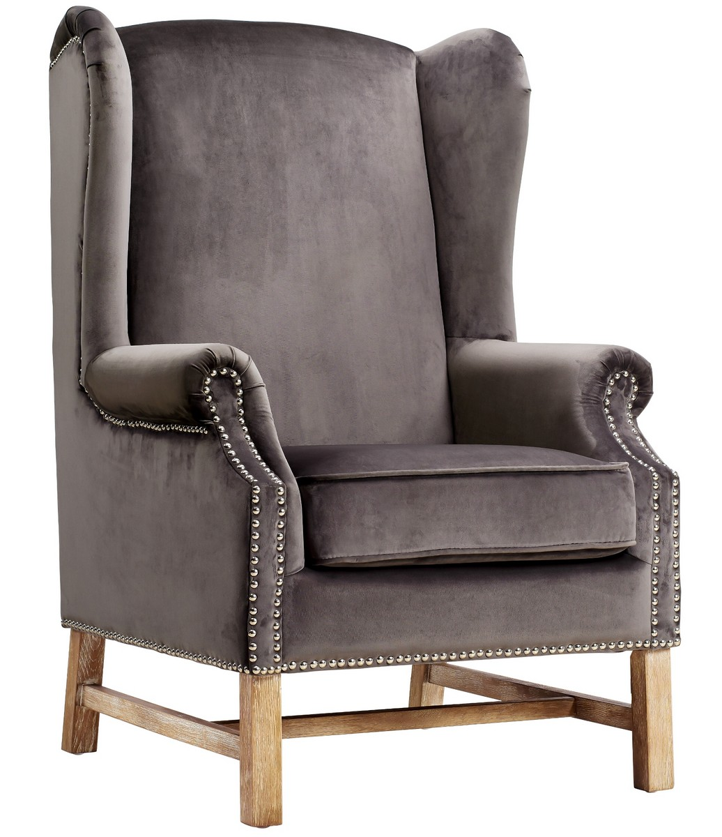 TOV Furniture Nora Navy Velvet Chair