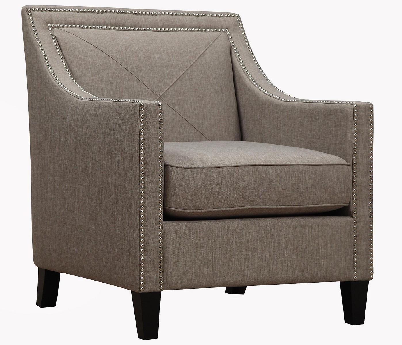 TOV Furniture Asheville Light Grey Linen Chair