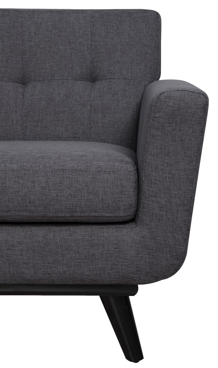 TOV Furniture James Grey Linen Chair