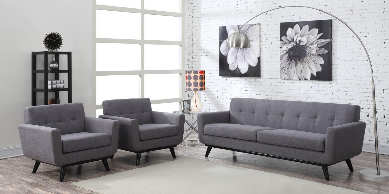 TOV Furniture James Grey Linen Living Room Set