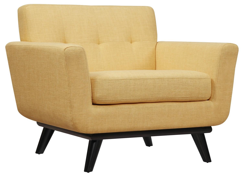 TOV Furniture James Mustard Yellow Linen Chair