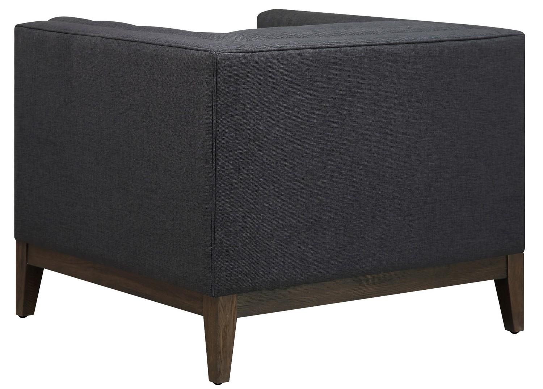 TOV Furniture Gavin Grey Linen Chair