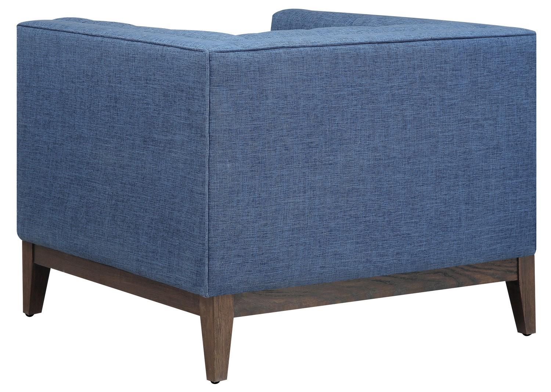 TOV Furniture Gavin Blue Linen Chair