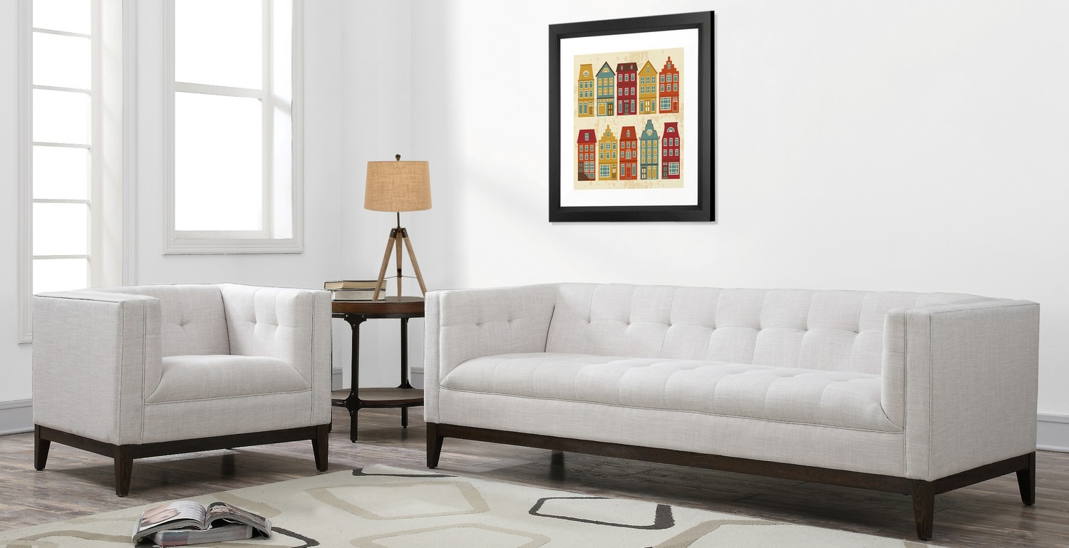 TOV Furniture Gavin Beige Linen Living Room Set