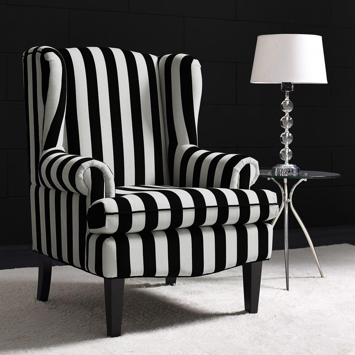 TOV Furniture Paris Velvet Wingback Chair