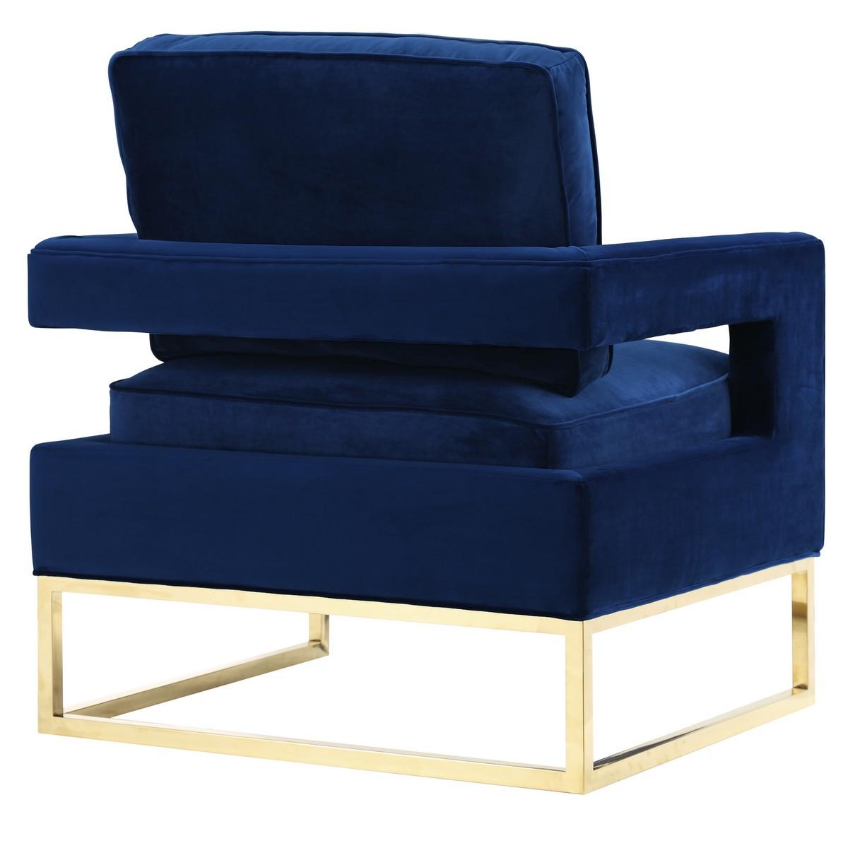TOV Furniture Avery Navy Velvet Chair