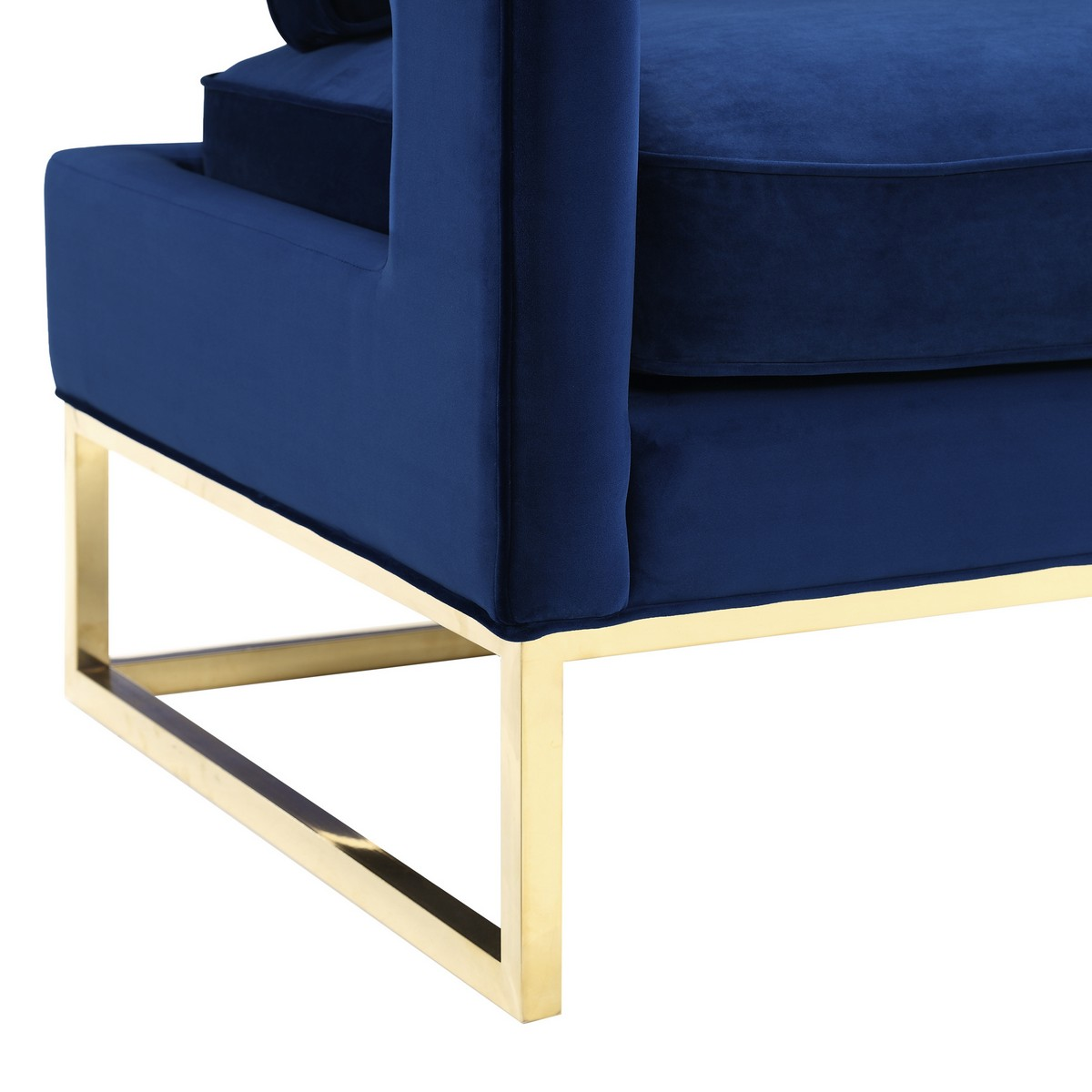 TOV Furniture Avery Navy Velvet Chair