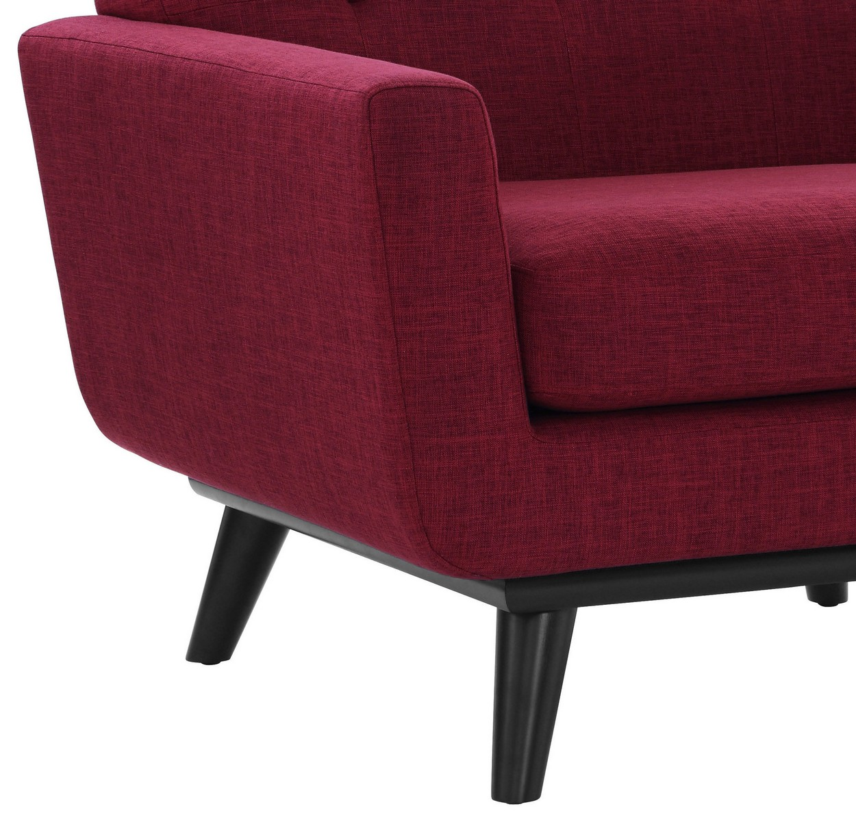 TOV Furniture James Red Linen Chair