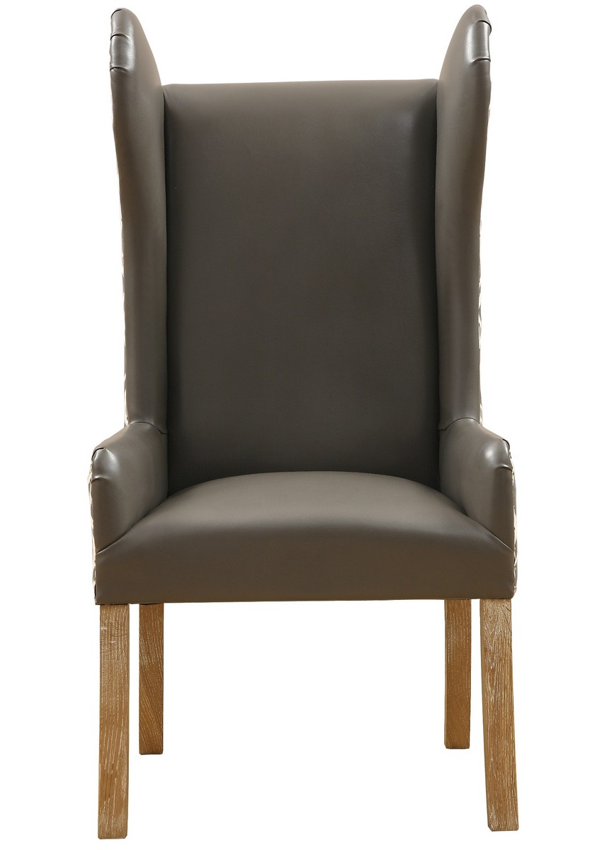 TOV Furniture Lund Leather/Fabric Arm Chair