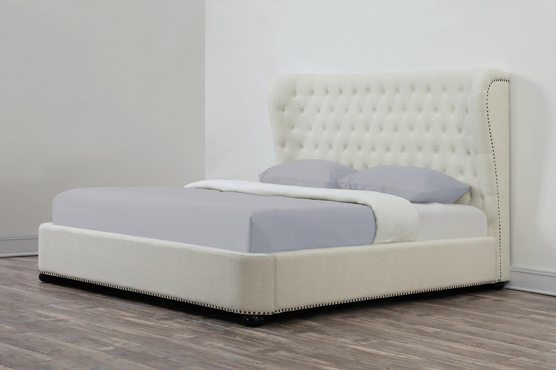 TOV Furniture Finley Linen King Size Bed - Beige