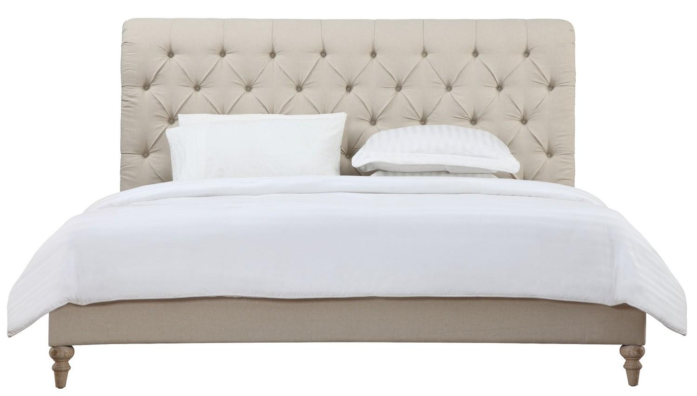 TOV Furniture Oxford Beige Linen Bed