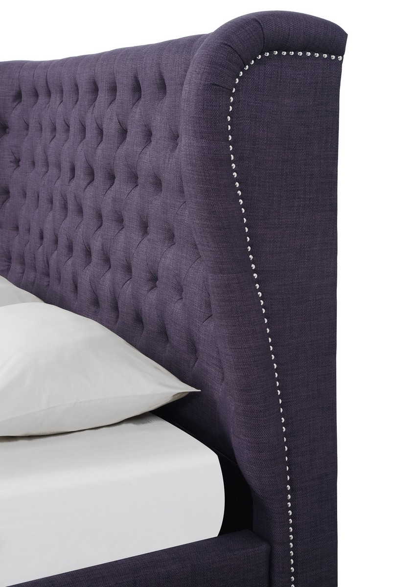 TOV Furniture Finley Plum Linen Bed