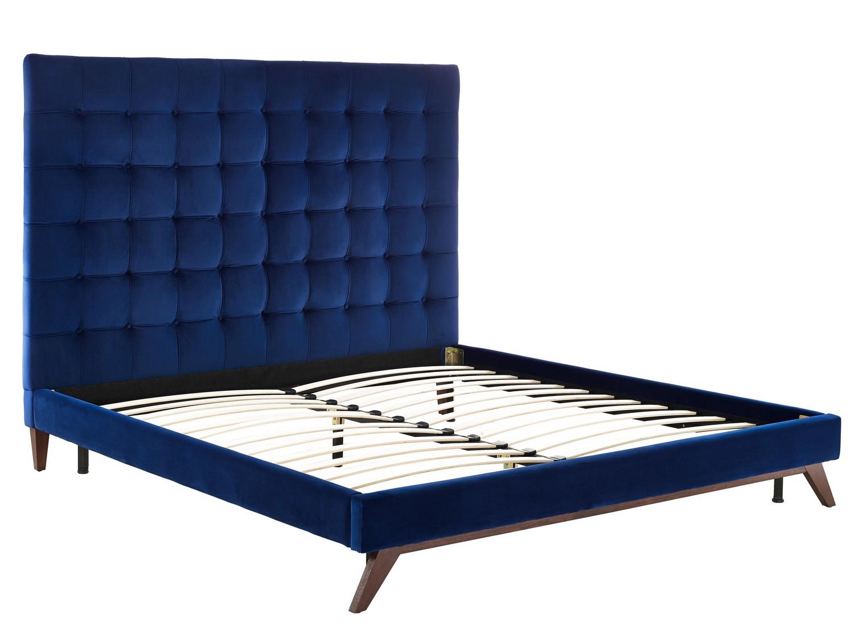 TOV Furniture Eden Navy Velvet Bed