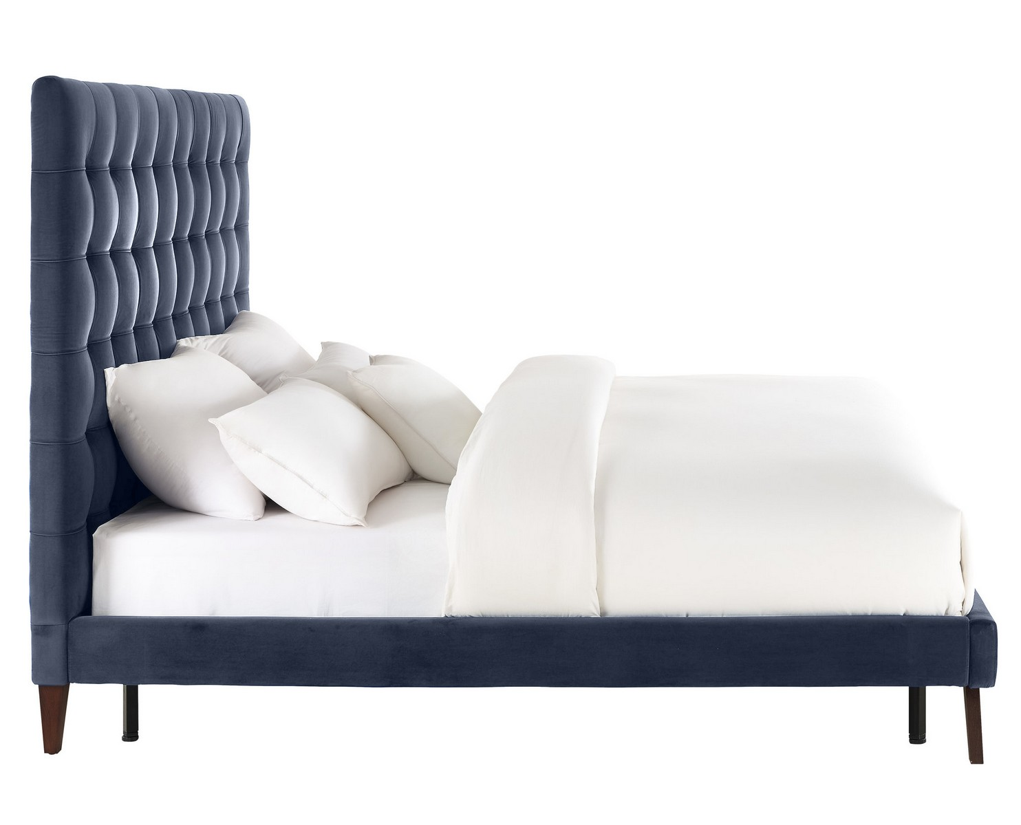 TOV Furniture Eden Grey Velvet Bed