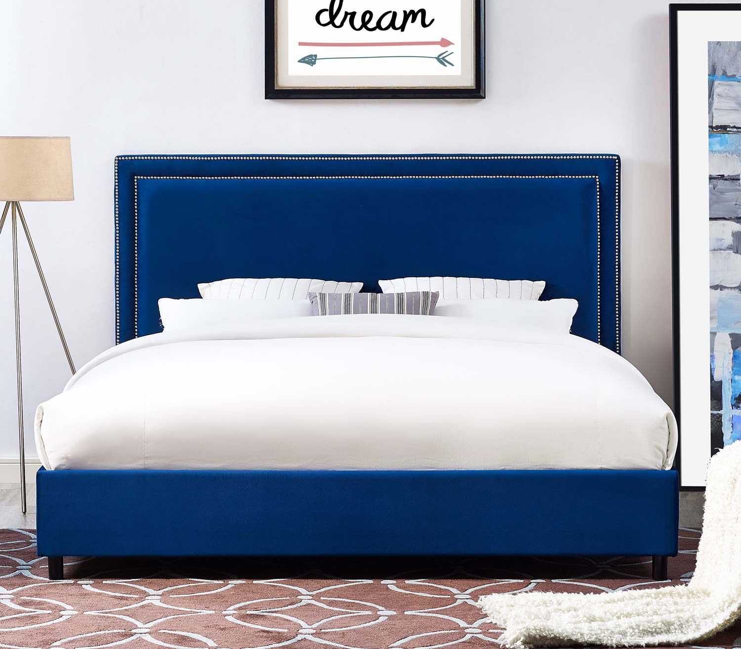 TOV Furniture Reed Bed - Navy