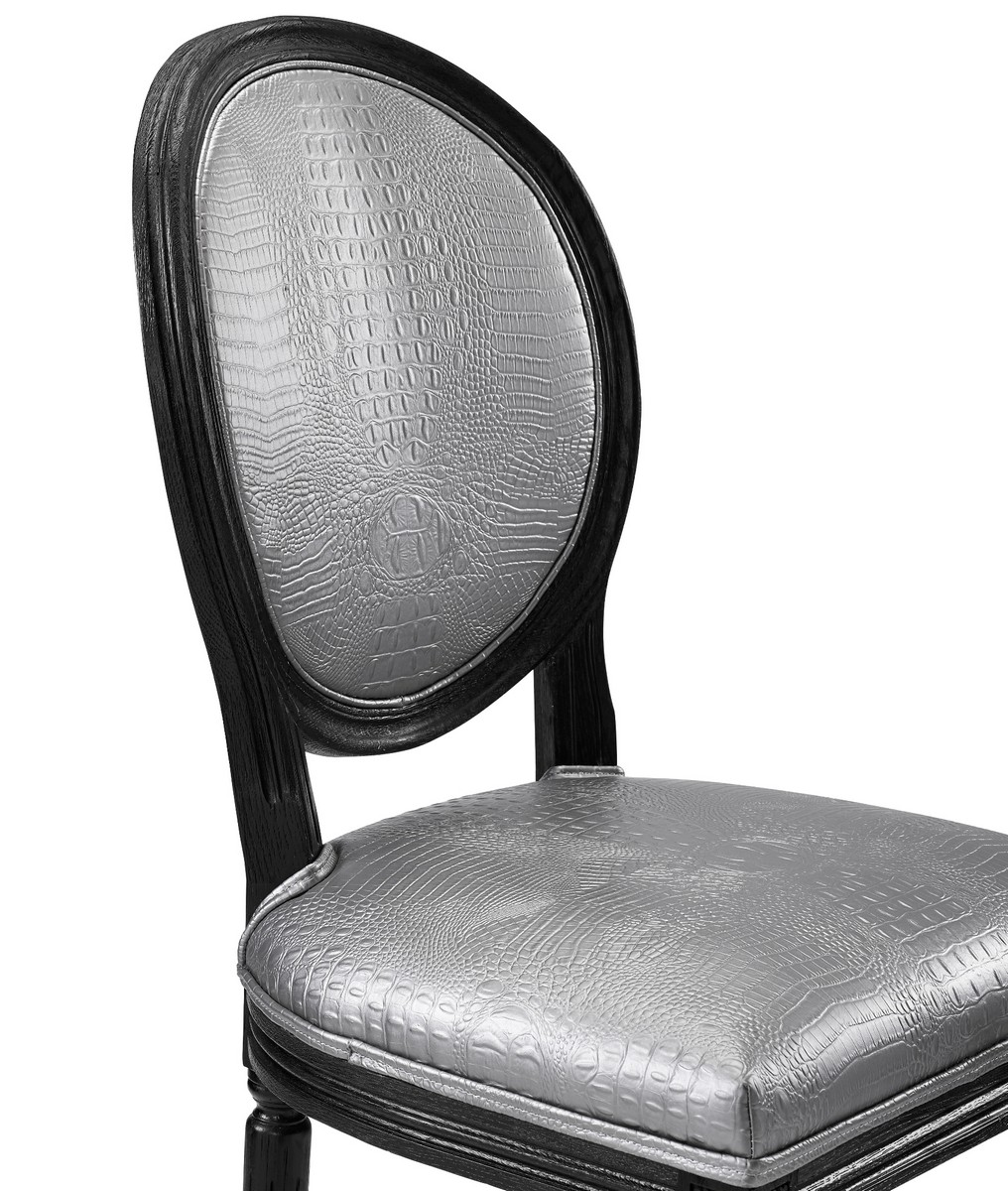 TOV Furniture Philip Silver Croc Barstool
