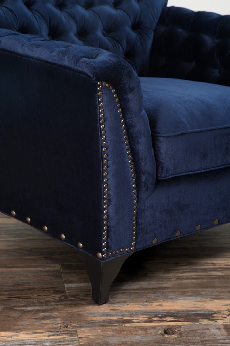 TOV Furniture Waterford Navy Velvet Club Chair