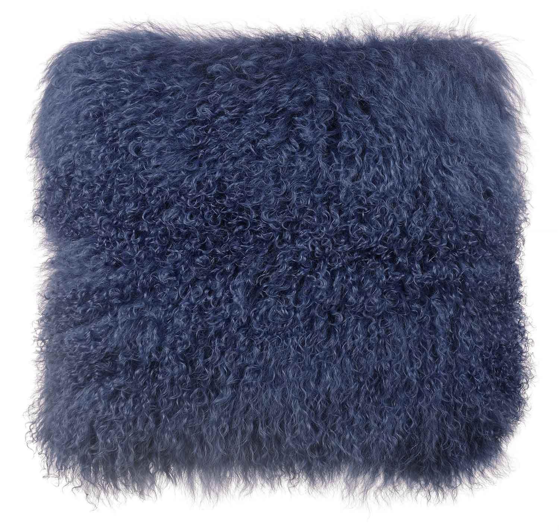 TOV Furniture Tibetan Sheep Large Pillow - Blue
