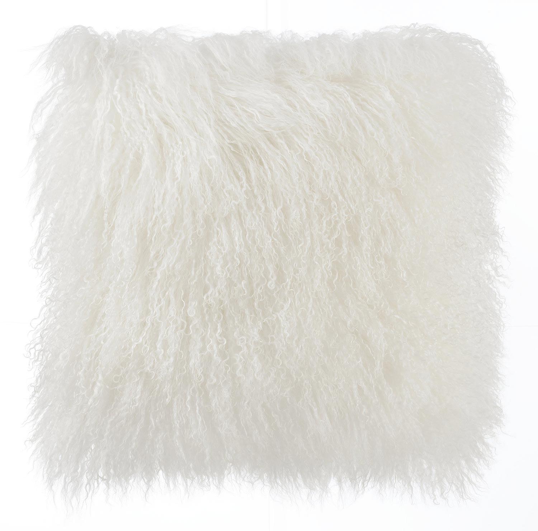 TOV Furniture Tibetan Sheep Pillow - White