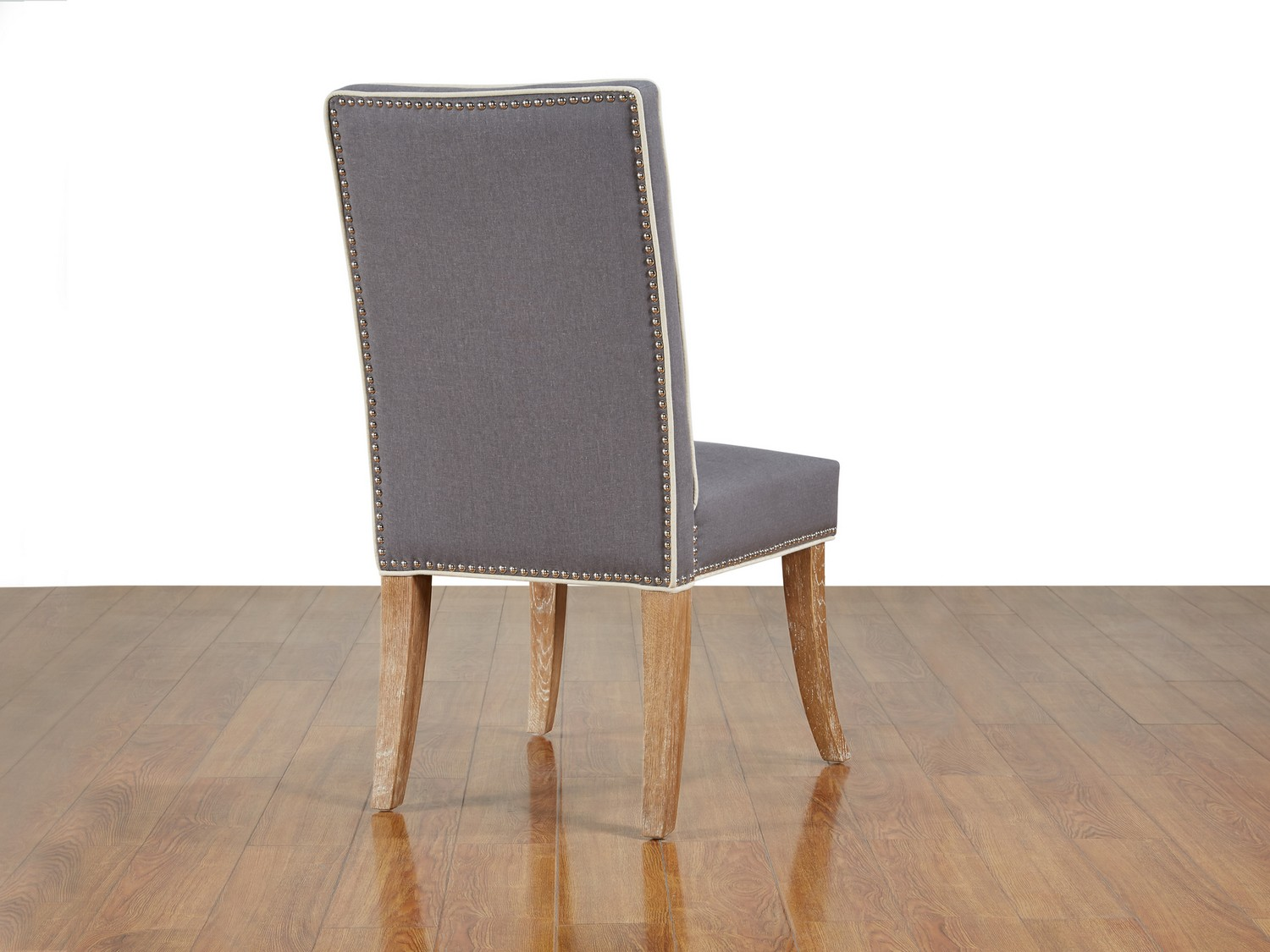 TOV Furniture Garrett Grey Linen Dining Chair-Set of 2